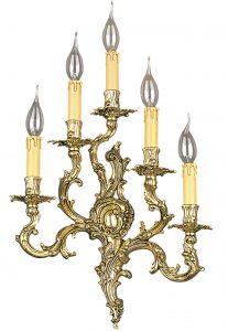 Applique BURL à 5 ampoules de fabrication artisanale par Riperlamp.