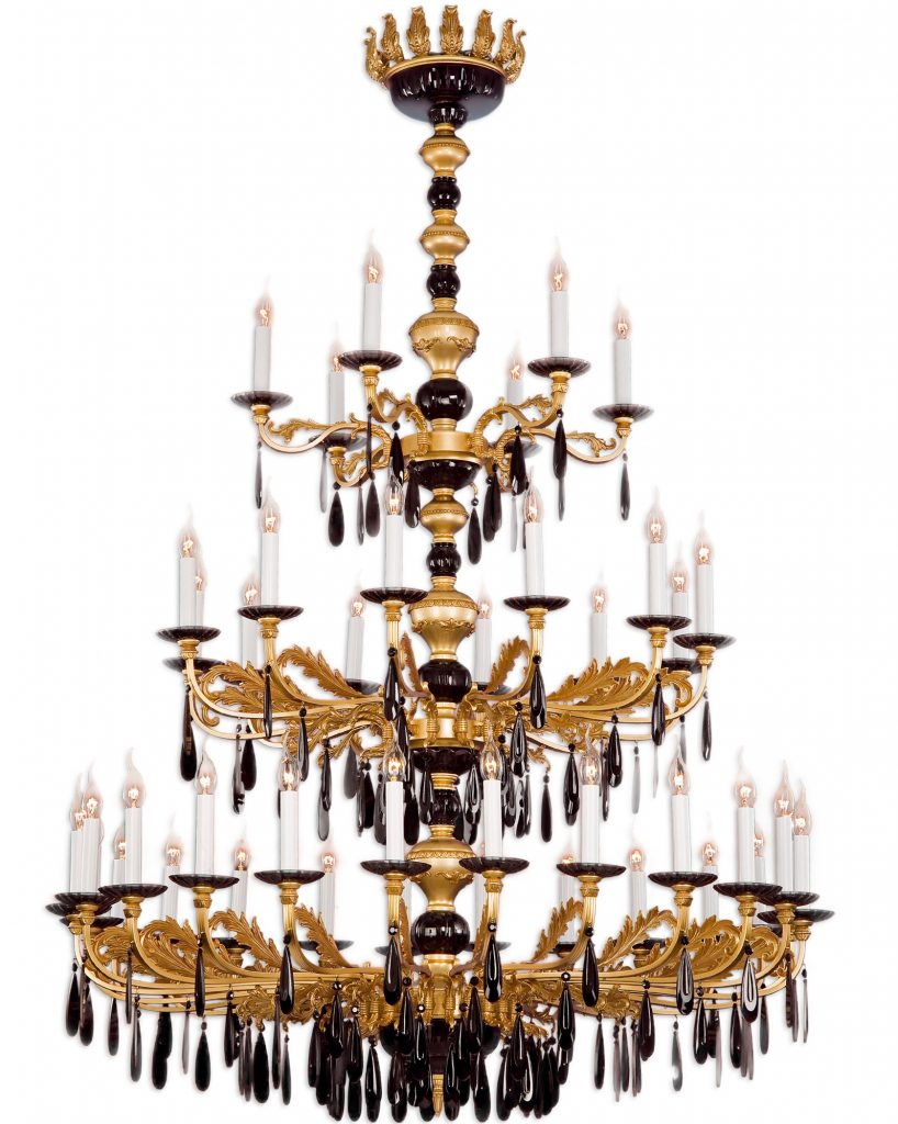 Lustre Château de Riperlamp. Fabricant de laiton et de luminaires artisanaux.