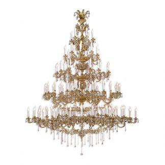 Lustre 174-Ampoules en Laiton & Cristal ROYAL