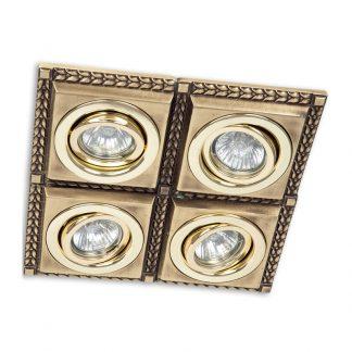 Quadruple en Laiton LINE (Ampoule LED Incluse)