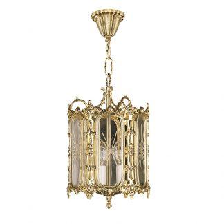 Lanterne 3-Ampoules en Laiton & Verre FILIPP