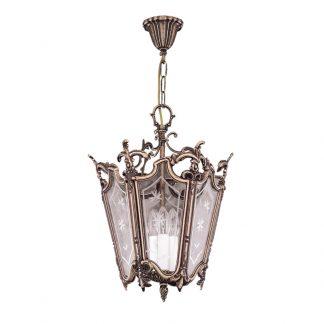 Lanterne 3-Ampoules en Laiton & Verre RODION