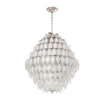 Suspension 16-Ampoules en Laiton et Verre ALISA