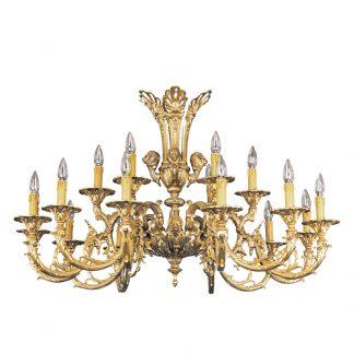 Lustre 18-Ampoules en Laiton INNA