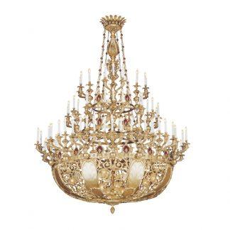 Lustre 116-Ampoules en Laiton & Cristal KHALID