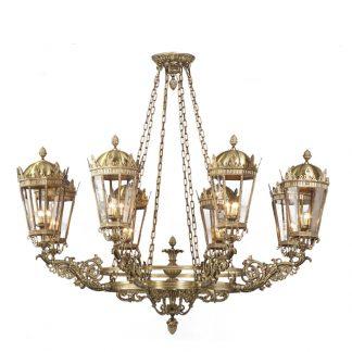 Suspension Pour l'Extérieur 24-Ampoules en Laiton CHARLOTTE