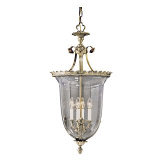 Lanterne 4-Ampoules en Laiton & Verre IVAN H 86 cm
