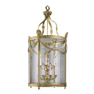 Lanterne 12-Ampoules en Laiton & Verre LEONID H147 cm