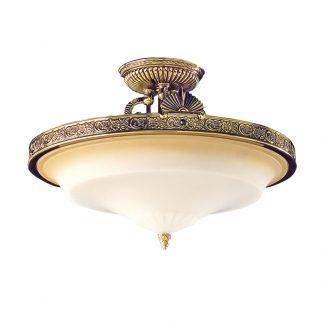 Plafonnier 3-Ampoules en Laiton ESPARTA BIS